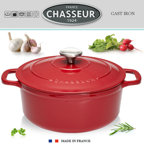 Chasseur - Cocottes rondes - Rouge