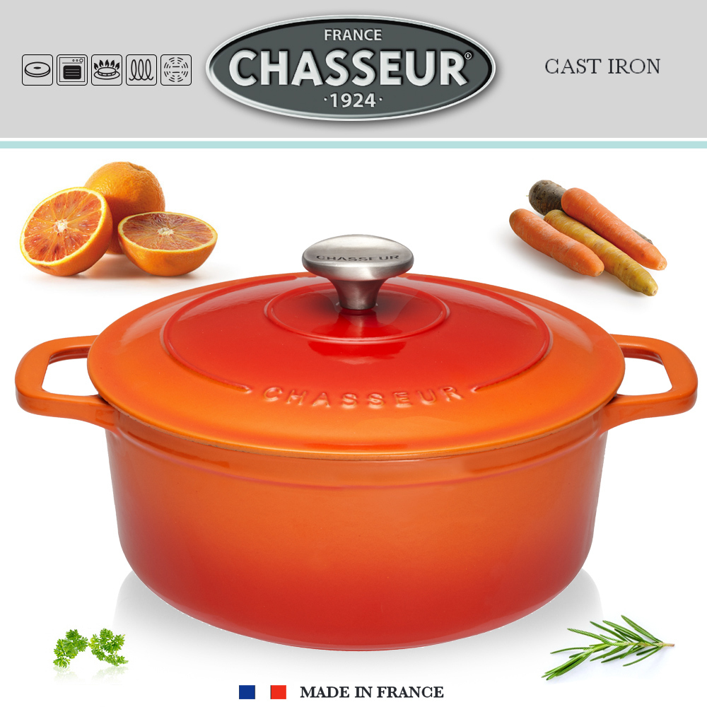 Chasseur - Round Casserole - Flamed Orange