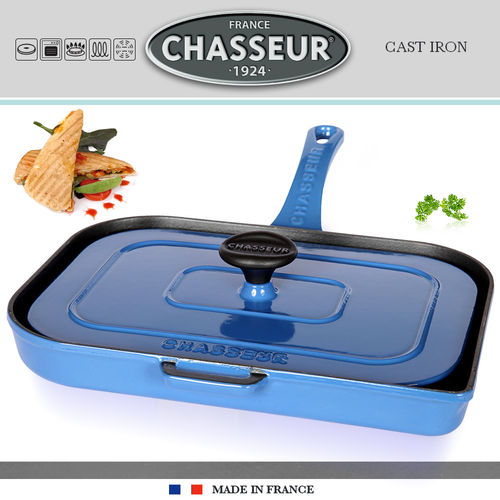 Chasseur - Double grill for panini and meat - Blue