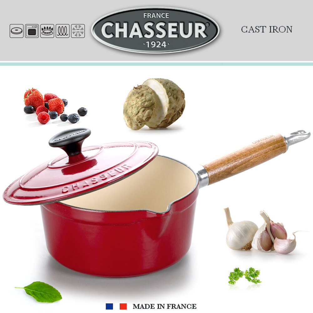 Chasseur - Saucepan wooden handle - Red