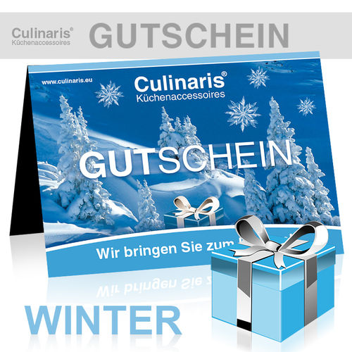Online-Shop - Gift Coupon - Design Winter