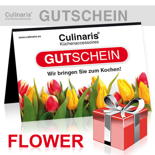 Online-Shop - Gift Coupon - Flower