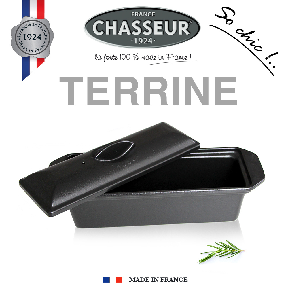 Chasseur - Cast Iron Terrine 31 x 11 cm - Black