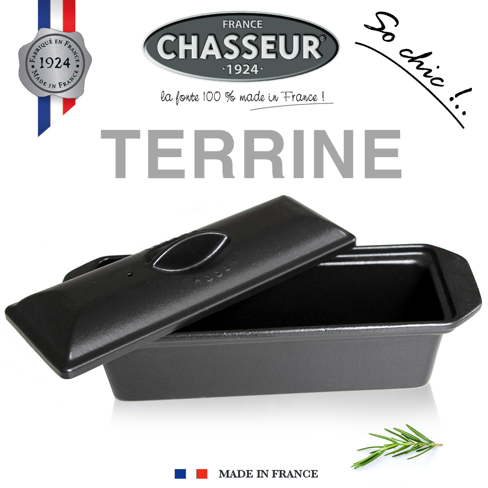 Chasseur - Cast Iron Terrine 36 x 11 cm - Black