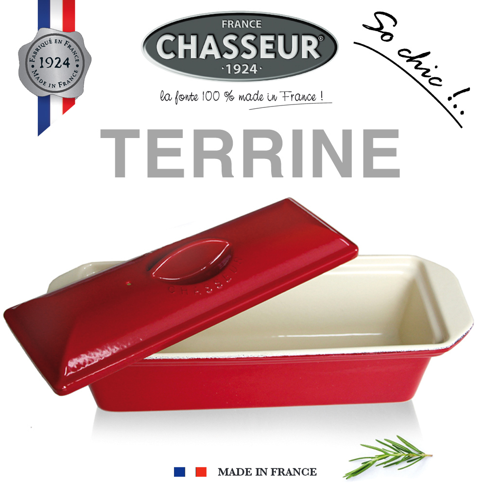 Chasseur - Terrines rectangulaires 36 x 11 cm - Rouge