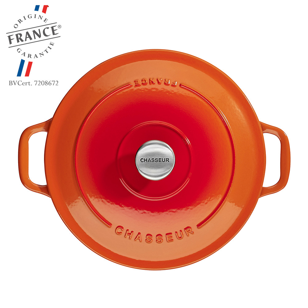 Chasseur - Cocottes rondes - Orange Flamme