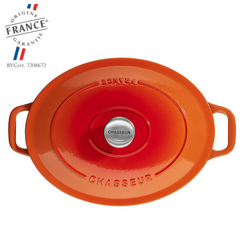 Chasseur - Cocottes ovales - Orange Flamme
