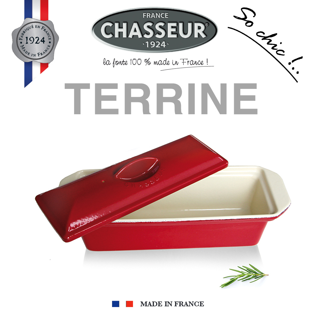 Chasseur - Terrines rectangulaires 31 x 11 cm - Rouge