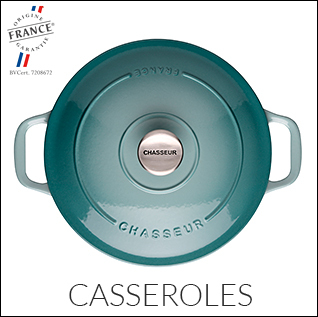 Discover the range of Chasseur cast iron casseroles