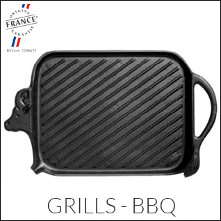 Discover the range of Chasseur cast iron grills